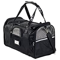 Next Level Pet Soft Sided Carrier, Black, Small Dog & Cat Approved