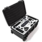 Drone Cartes Compatible Case For GoPro Karma - Rolling, Hardshell, Waterproof, Made In The USA (Black Case, White Foam)