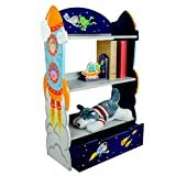 Fantasy Fields Outer Space Thematic Kids Wooden Bookcase with Storage