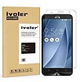 "Asus ZenFone 2 Laser ZE550KL Screen Protector- iVoler® Premium Tempered Glass Screen Protector for Asus ZenFone 2 Laser ZE550KL 5.5""- 0.2mm Ballistics Glass, 2.5D Round Edge, 9H Hardness Featuring Anti-Scratch, Anti-Fingerprint, Bubble Free- Lifetime Replacement Warranty"