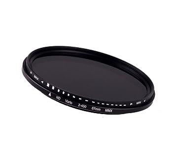 67 mm ajustable Fader filtro de densidad neutra (2nd – 400 ND) para Canon