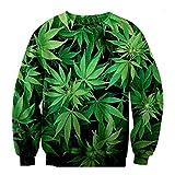 Weed Leaf Swag 3D Sweatshirt Clothes Hoodies Women Men Pullovers Hoodie Top (M)