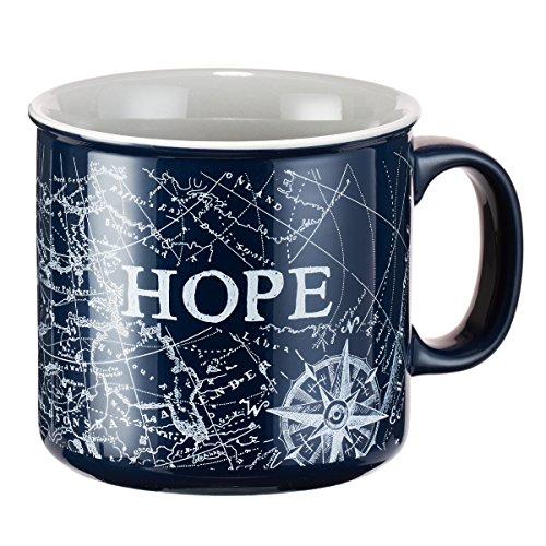Mug - Hope Nautical Design, Navy Blue (Nautical Designs)