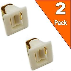 EXP571 (Pack of 2) Dryer Door Catch Replaces 131658800, WP71002106, WP3389441, 5307521419, WE1X1195, 00491624, 4027EL2001A, 10690002, 10690001, WE01X10023, WE1X1153, WE10X27373, WE01X10184