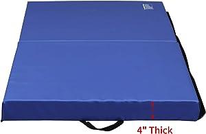 ZENOVA Gymnastics Mat Landing Mat 3'x6'x4''/4'x6'x4'' Thick Durable Practice Mats for Tumbling, Wrestling,Core Workouts