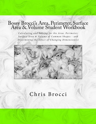 Amazon.com: Bossy Brocci's Area, Perimeter, Surface Area & Volume ...