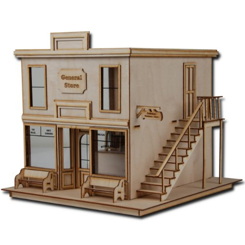 "1/2"" Scale Dollhouse Kit Laser Cut Taft General Store"