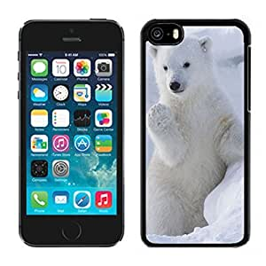 MMZ DIY PHONE CASEBest Element iphone 6 plus 5.5 inch Case Cute Polar Bear Beast Design Black Soft Silicone Phone Protective Cover