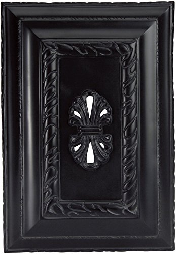 Lumtopia Craftmade CH1201-BK Hand-Carved Rectangle Chime