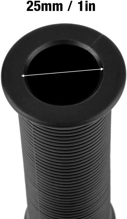 White Impugnatura manubrio coppia impugnatura universale TPU da 1 pollice 25mm per moto