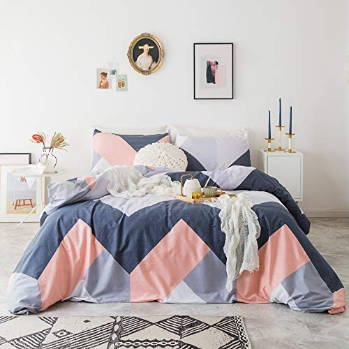 blue and coral bedding - 1
