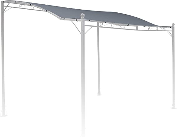 blumfeldt Allure Roof - Toldo Gris de Repuesto para pérgola Allure, Medidas: 3 x 2, 5 m, Resistente Exterior, Poliéster 180 g/m², Protección Ultravioleta, Gris: Amazon.es: Jardín