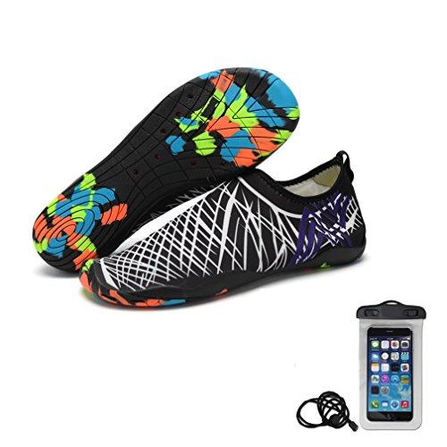 Hlm Water Yoga Shoes Per Donna A Piedi Nudi Calze Aqua Quick-dry Mutifunctional Leggero Per Nuoto Surf Beach Walking Garden, Canottaggio Bianco