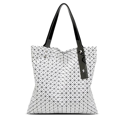 Hombro White Doblez Bolso Bolso Geométrica 18 18 Japonés Diamante Bolso WLFHM Estilo Bolsa Dama De xpqfTpaUw