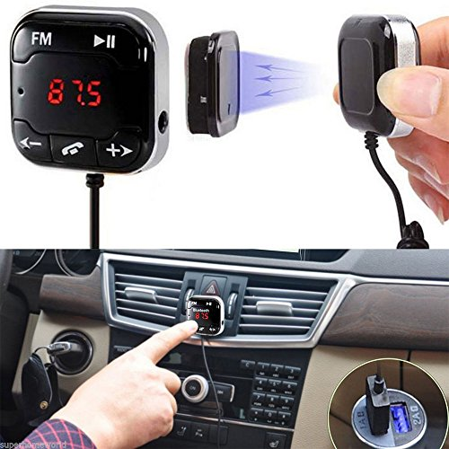 Dual USB FM Transmitter Adapter Wireless Bluetooth Car Kit Hands-free MP3 Player