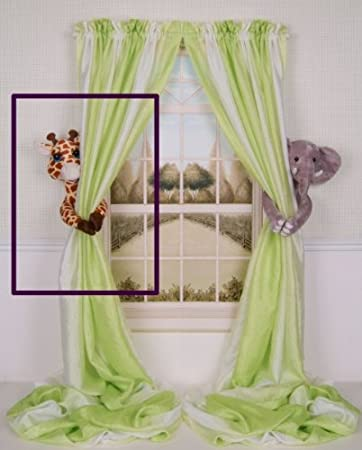 Curtain Critters Plush Jungle Safari Giraffe Curtain Tieback, Car Seat,  Stroller, Crib Toy