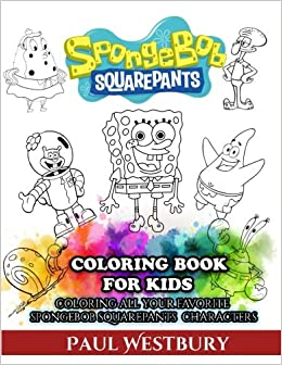 spongebob squarepants coloring book for kids coloring all your