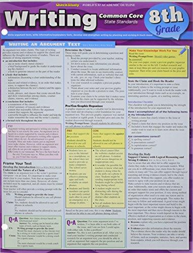 Writing Common Core 8Th Grade (Quick Study)