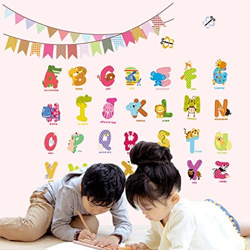 Baby and Toddler Wall Decor WillingCo Super Heros Fun abc Wall Stickers for Nursery and Kids Rooms Decorstyle Alphabet Wall Decals