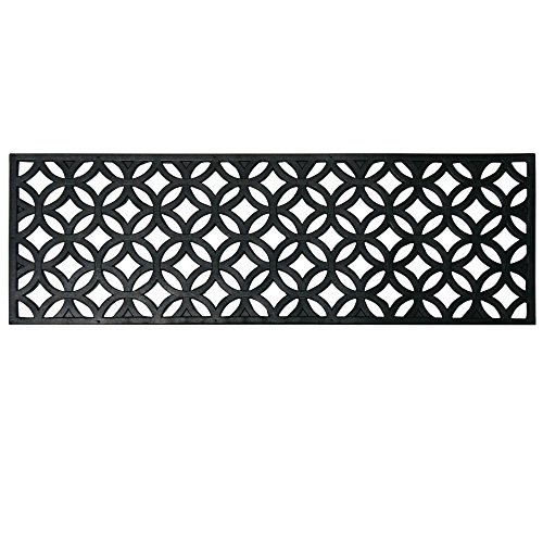 Rubber-Cal Azteca Indoor Outdoor Stair Treads Rubber Step Mats, 9.75 by 29.75-Inch