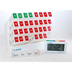 Medcenter Vitamin Organizer with Large Pill Boxes with Talking Alarm Clock