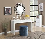 ikea vanity table - Convenience Concepts Northfield Hall Console Table, White