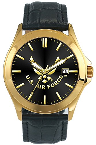 U.S. Air Force Deluxe Leather Padded Mens Watch (30M water resistant)