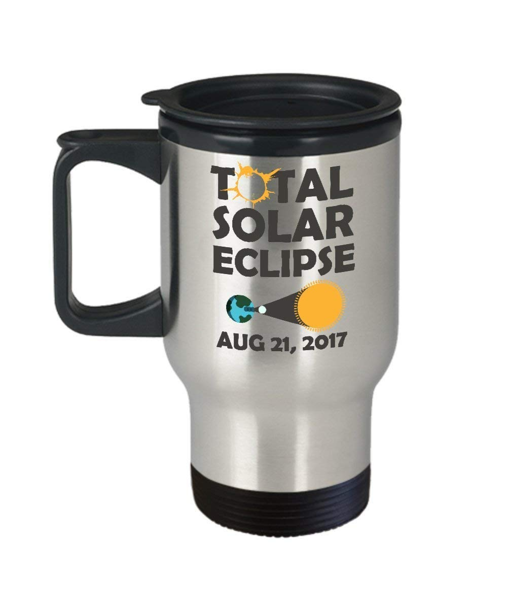 Total Solar Eclipse August 21 2017 China Map Gear Glasses Stainless Steel Travel Insulated Tumblers Mug for kids men women - Coffee Mug,Beer mug