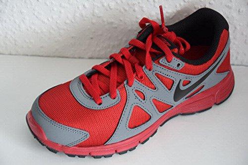 Nike Revolution 2 GS - Zapatillas infantiles - grau-rot-schwarz