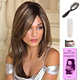 Shilo by Noriko, Wig Galaxy Hair Loss Booklet, 2oz Travel Size Wig Shampoo, Wig Cap, & Loop Brush (Bundle - 5 Items), Color Chosen: Gold Blonde