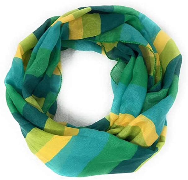Stripes St.Patricks Patty Paddy Day Decorative Novelty Scarf ~ Multi-colored Stripes ~ 11x60 in P2P