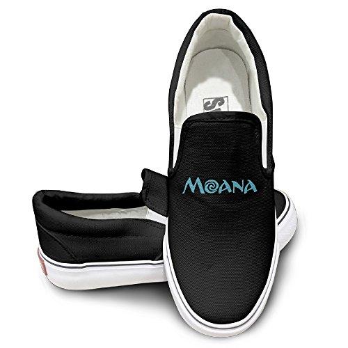 [NF18G Moana Letter Customized Canvas Shoes Size41 Black] (Lightning Strike Costume)