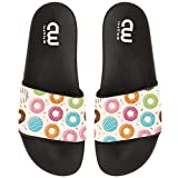 Cartoon Cute Donut Summer Slide Slippers For Girl Boy Kid Non-Slip House Sandal Shoes size 2