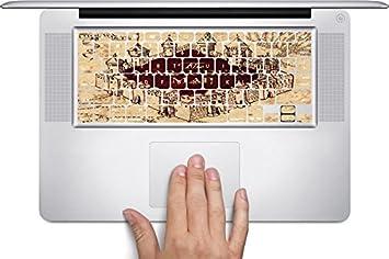 the marauders map hogwarts castle design print image macbook keyboard decals fits 11 inch air