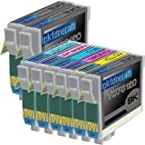 1 Pack + 1 Black of Total 7 Remanufactured Epson 78 Ink Cartridges Epson 78 T078120 T078220 T078320 T078420 for Epson 78 Black Cyan Magenta Yellow Light Cyan Light Magenta Combo Set, Office Central