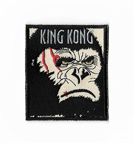 King Kong Patch (3.5 Inch) Embroidered Iron or Sew on Badge DIY Applique Movie Souvenir Film Costume Gorilla Monster vs Godzilla Son