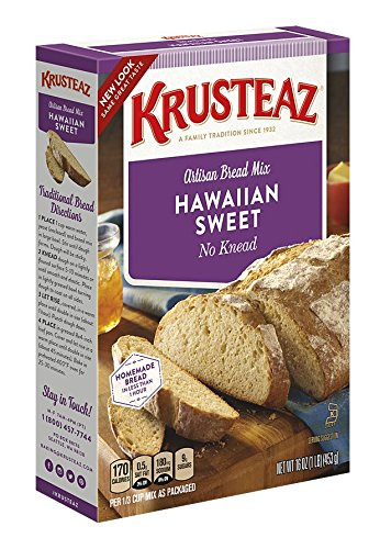 Krusteaz No Knead Hawaiian Sweet Artisan Bread Mix, 16-Ounce Boxes  (Pack of 12) ()