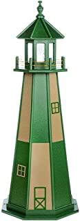 product image for DutchCrafters Decorative Lighthouse - Wood, Cape Henry Style (Turf Green/Weatherwood, 5)