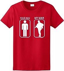 ThisWear Your Man My Man Ladies T-Shirt