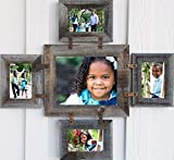 Barnwood Photo Collage Frame for 1 — 8 X 10 & 4 — 5 X 7s in your choice of colors For Sale