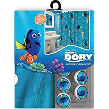 13pc Disney Finding Nemo's Dory Shower Curtain and Hooks Set