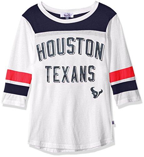 Touch by Alyssa Milano NFL Houston Texans Women's Gridiron Tee, White, Medium ()