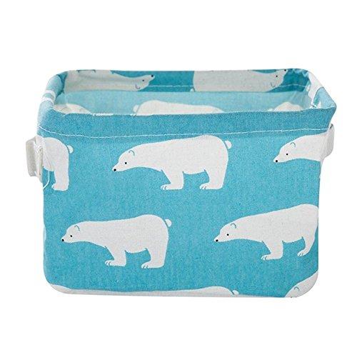 Oyfel cesta de almacenaje Caja de almacenaje bolsa funda Phoenicopterus oso polar port/átil para servilletas y los art/ículos de ba/ño cosm/éticos almacenamiento 1 pcs 21x16x13.5CM