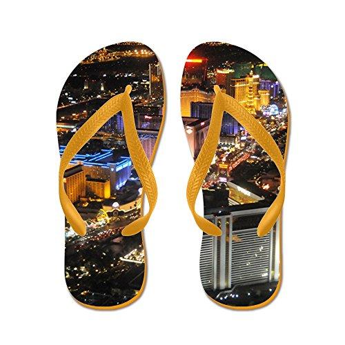 Cafepress Las Vegas 1 - Infradito, Divertenti Sandali Infradito, Sandali Da Spiaggia Arancione
