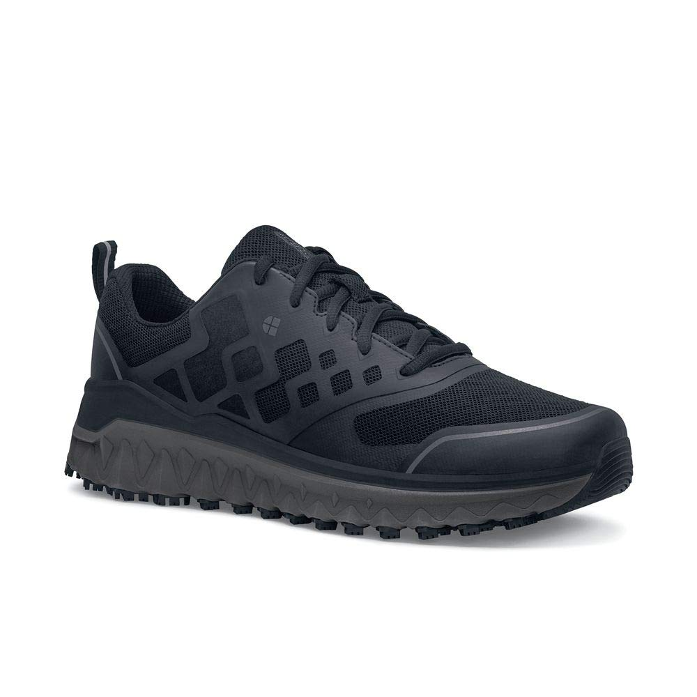 Shoes for Crews Mens Bridgetown Athletic-Sneaker Low Slip Resistant Work Shoe Black by Shoes for Crews