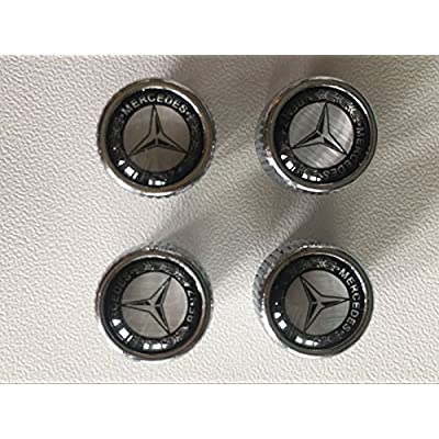 hongyangfumeilai HYFML Zinc Alloy Mercedes-Benz Logo Valve Cap for to Mercedes-Benz: Automotive