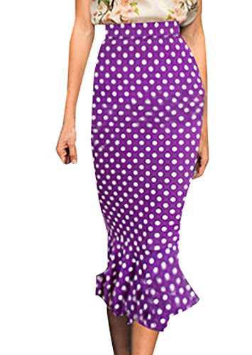 Jupes Femme Cocktail de Jupe Violet Jupe Sexy Hanche Midi Couleur Soire Crayon Fishtail Moulante Package Unie t Gala Party Fashion Legendaryman 0pxI45