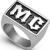 Stainless Steel Motorcycle Biker MC Ring