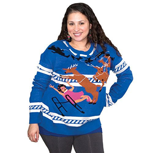 Granny Ugly Christmas Sweater FunQi Blue product image