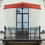 Pure Garden 50-LG1054 Half Round Patio Umbrella